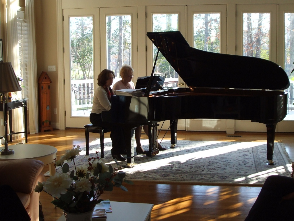 Diane and Natalia. Recital 01/09/10