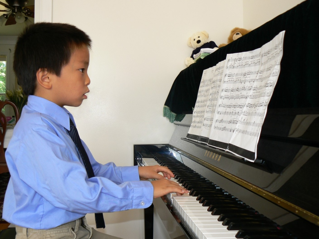 Jeffrey playing piano