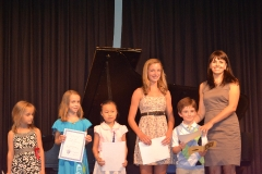Students received trophies and certificates